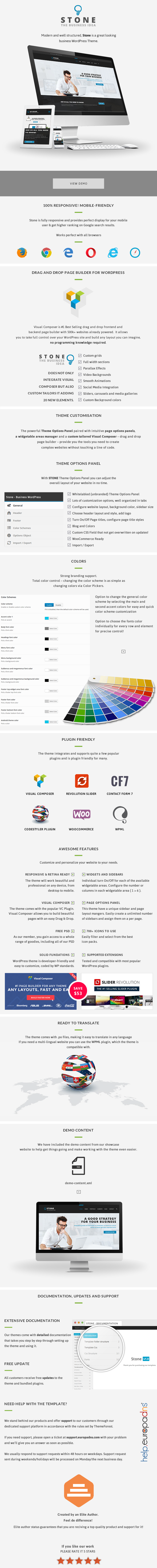 Stone Stone - Responsive Business WordPress Theme theme WordPress